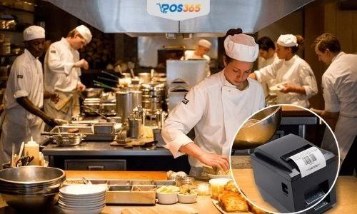 Nhà bếp nhận được phiếu in báo chế biến thông qua máy in hoặc máy pos bán hàng