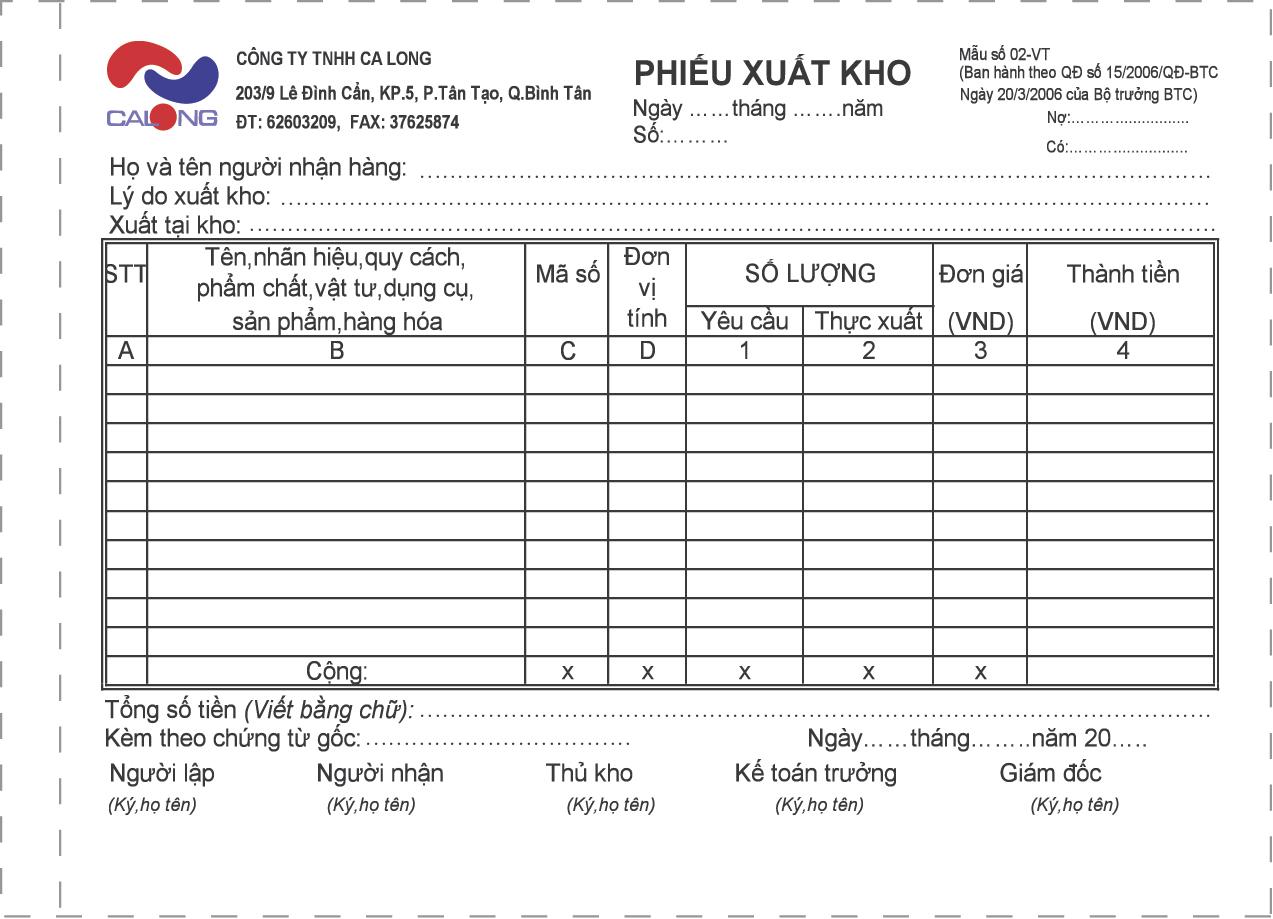 Phiếu Nhập Kho 3L A5 giá rẻ nhất tại tphcm
